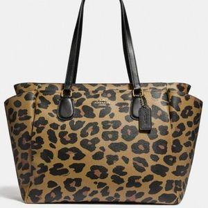 NWT Leopard Print Coach Diaper/ Weekend Bag